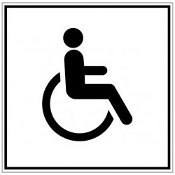 pictogramme acces handicape